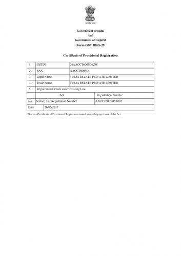 TULJA ESTATE PVT LTD_GST Certificate PRC_24AACCT6005D1ZW_001