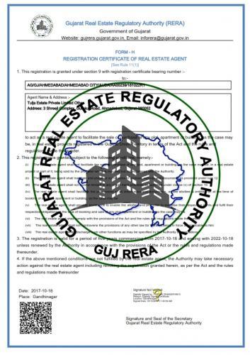 Tulja Estate Private Limited_RERA Certificate_001